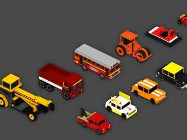 3D Car and Voxel art