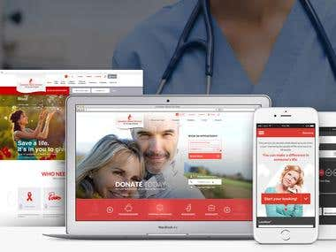 Canadian Blood Services - iPhone, Web version