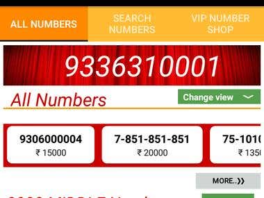 VIP NUMBER SHOP Android App
