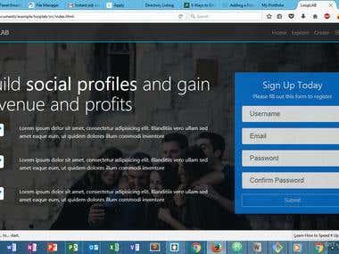 social media web application
