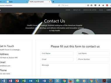 Health project Web application