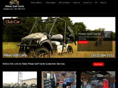 SEO and Social Media for Custom Golf Cart Company