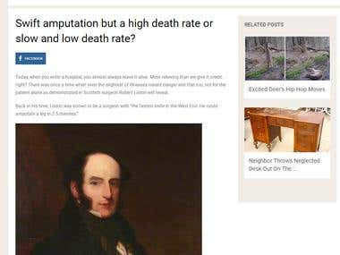 Swift amputation but a high death rate or slow and low death
