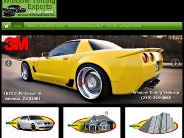 Automobile Window Tinting Website and SEO Services