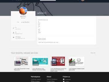 Job Service Site , VueJS 2.0
