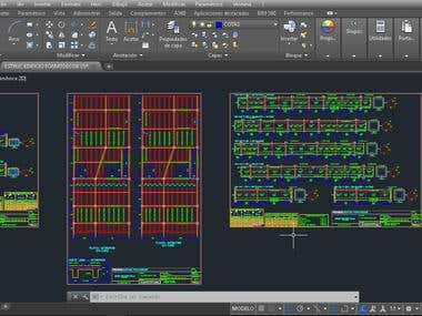 Design and drawing plans in Autocad