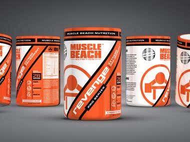 High performance packaging for Muscle Beach Nutrition