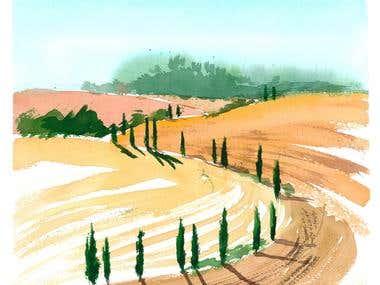 Toscany landscape