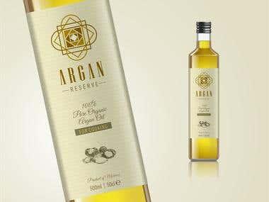 Label Design Argan Reserve