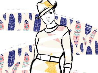 Fashion illustration (ink)