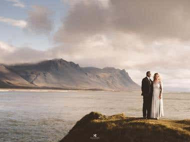 Portrait from a Destination Wedding in Iceland