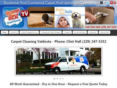 Website, SEO & Social Media for Carpet Cleaners