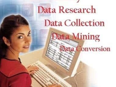 Data Entry, Data Processing, Reserch,
