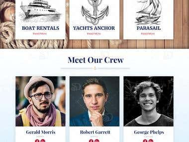 Webdesign for Yatch Rental