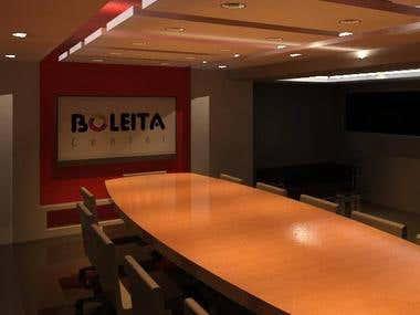 primera propuesta de sala de conferencia de centro comercial