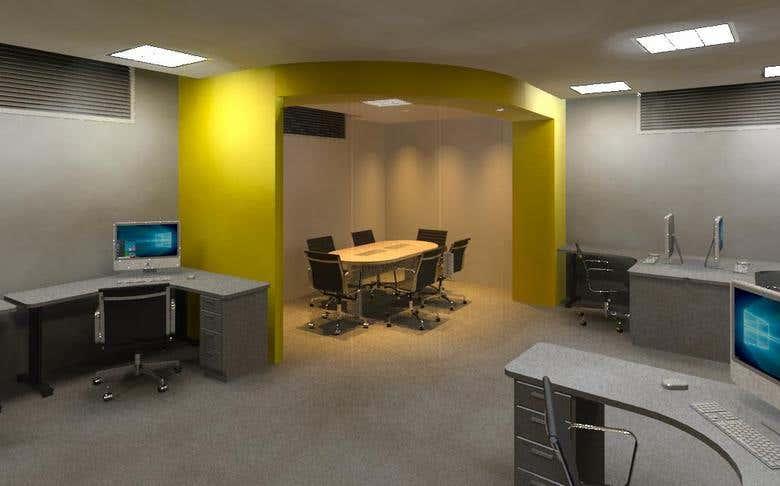 diseño interior de oficina de mercadeo en centro comercial | Freelancer