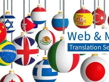 Website and Web-shop Translation and Localization Services