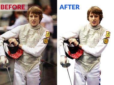 Before and After Photo with Background Remove