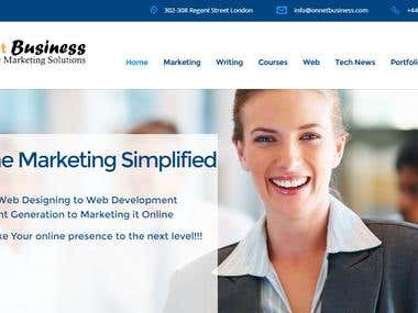 Online Business WordPress Site