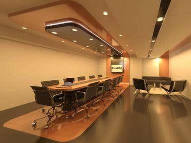 sala de conferencia de centro comercial (madera)