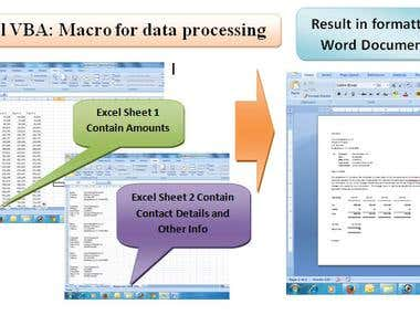 Excel VBA - Macro for data processing