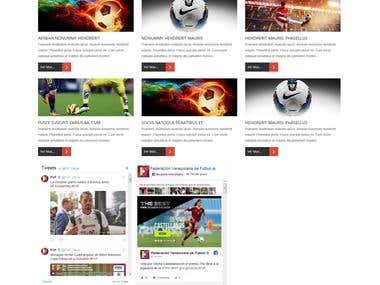 Diseño Pagina Web Asociacion de Futbol