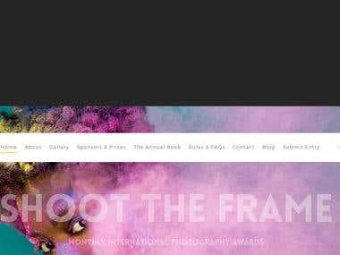 Online photography contest Website