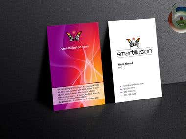 My business card design
