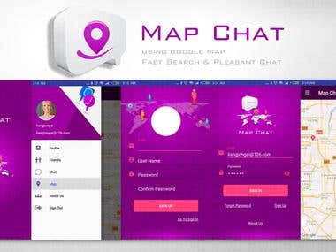 Android Chatting APP with nearby friends by GeoLocation