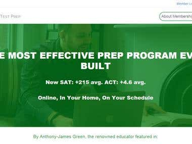 Test Preparation Membership Website