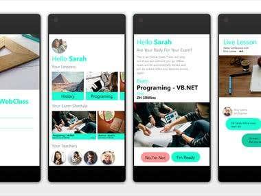 UI Design - Web Class App