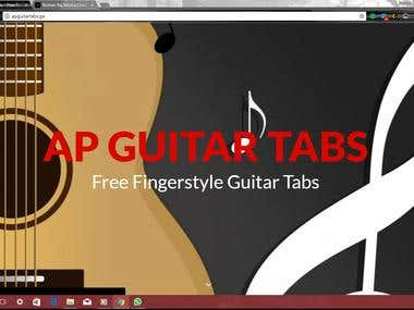 Musician's Guitar Tabs: A Website for Guitar Tabs