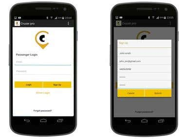 Taxi Booking Android App & Web Application