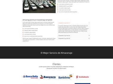 Diseño de la Pagina Web Thomcar
