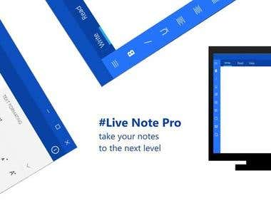 Live Note Pro - App Made By Me