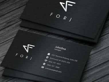 FORJ Logo+Business Card