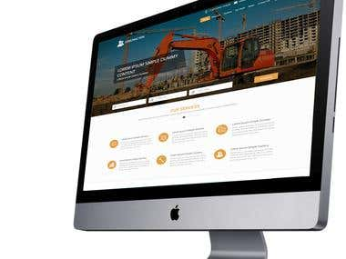 Design a website for construction