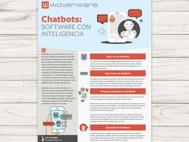 Design a chatbots one-pager marketing leaflet