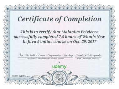 Udemy course - What's New In Java 9