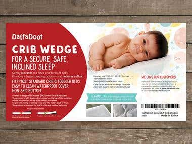 Design a decorative flyer for a Baby Crib Wedge