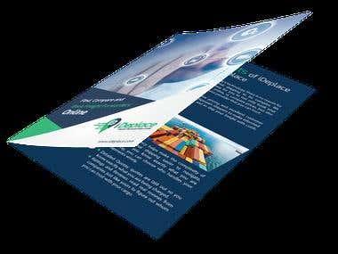 Bi fold brochure Logistics