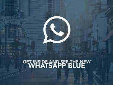 WhatsApp Blue | iOS Mobile Design Concept