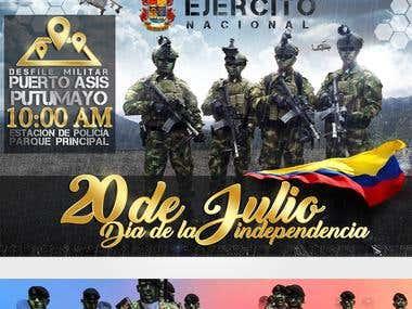 20 de julio Día de la independencia, celebrando los 207
