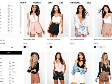 Boohoo Shapping Mall site