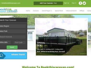 Caravan listing web site