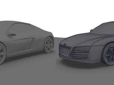 3D AUDI CAR