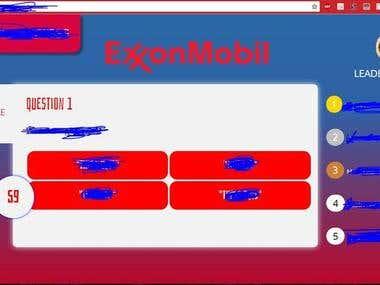 Exxon-Mobil Quiz Website