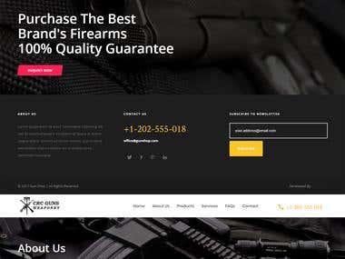 Creative Gun Shop Website