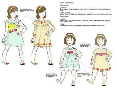 Kids fashion design