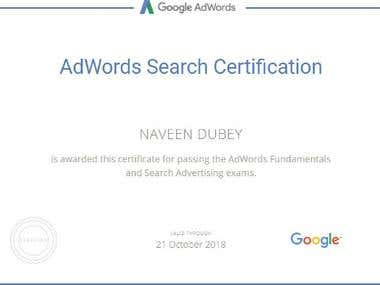 Google Adwords search and fundamental certification
